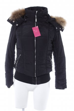 Best emilie Winter Jacket black-camel quilting pattern casual look