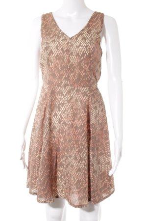 Best mountain Mini vestido marrón claro-albaricoque estampado a lunares