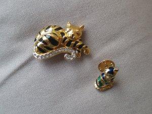 Best price#Katzenbrosche & Katzenpin#Vintage#Pierre Lang
