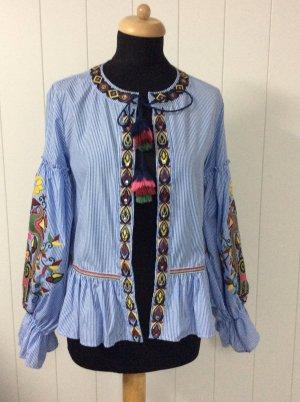 Bestickte Bluse von Zara Blogger Boho Hippie