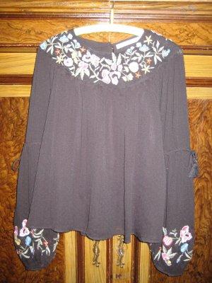 Bestickte  Bluse von Zara Gr. M