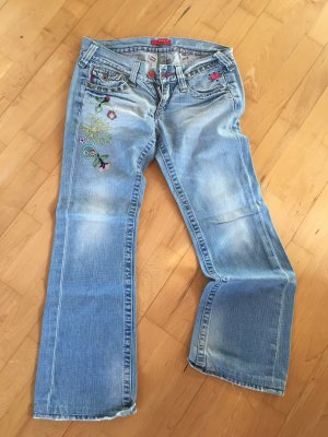 10 FEET Jeans bootcut bleu azur