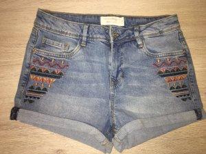 Bestickte Jeans Shorts von Tom Tailor Denim