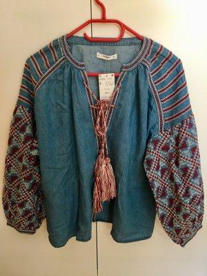 Mango Jeans blouse veelkleurig Katoen