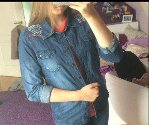 Bestickte Jeansjacke/bluse