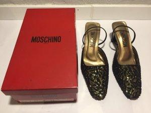 Bestickte Moschino Pumps Gr.35,5