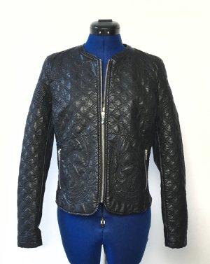 Zara Trafaluc Faux Leather Jacket black