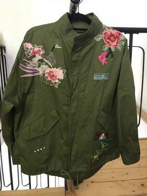 Zara Oversized jack veelkleurig Polyester
