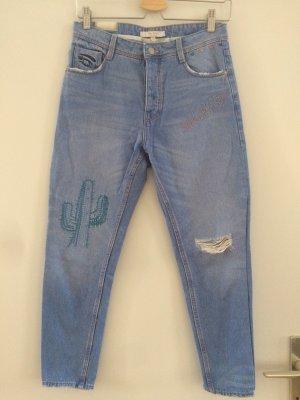 Bestickte Zara Jeans