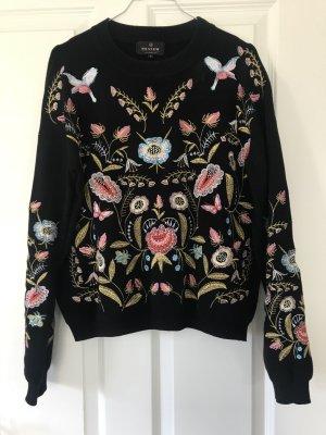 Bestickter Pullover in Größe S