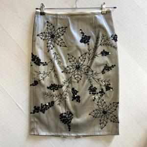 Falda de tubo crema-negro