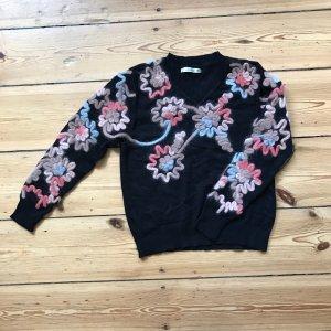 Jersey de punto rosa-negro