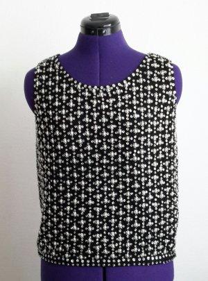 Maglione di lana nero-bianco Lana