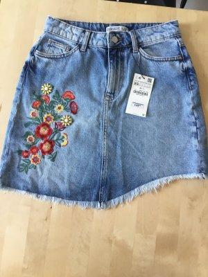 Zara Jupe en jeans multicolore coton