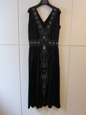 besticktes Kleid, schwarz, Gr. 36, Cocktail Abend