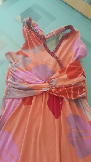 Besticktes Maxi Boho Kleid in rot-orange von Hale Bob in Gr. S