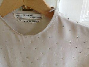 AllSaints Shirt dusky pink silk