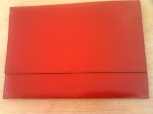 Writing Case red leather