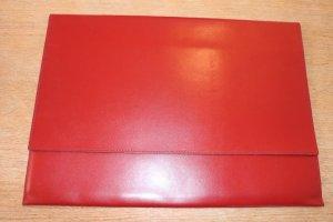 Borsa block notes rosso Pelle