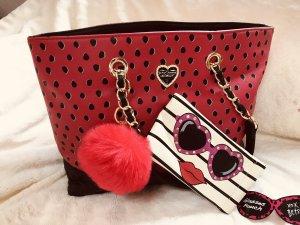 Betsey Johnson Handbag black-red