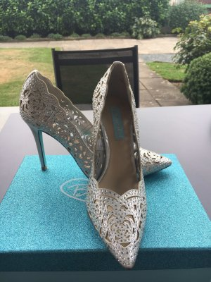Betsey Johnson High Heels silver-colored