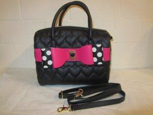 BETSEY JOHNSON: Handtasche mit pinker Schleife, NEU