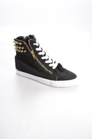 Betsey Johnson High Top Sneaker schwarz-goldfarben Urban-Look