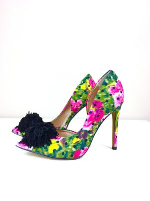 Betsey Johnson Pom Pom Pumps Stielettos High Heels Gr. 36 Neuwertig