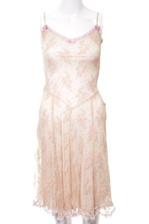 Betsey Johnson Spitzenkleid creme-pink Elegant