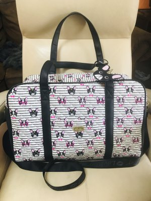 Betsey Johnson Weekender Bag black-white
