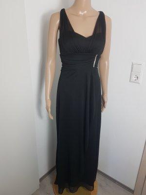 Betsy & Adam Abendkleid Ballkleid Chiffonkleid schwarz Strass Größe 34