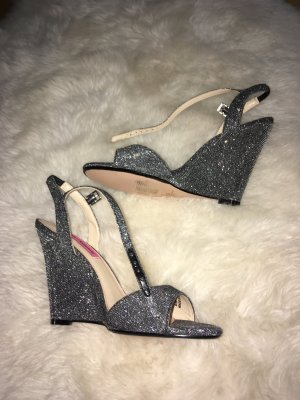 Betsey Johnson Platform Sandals silver-colored-anthracite