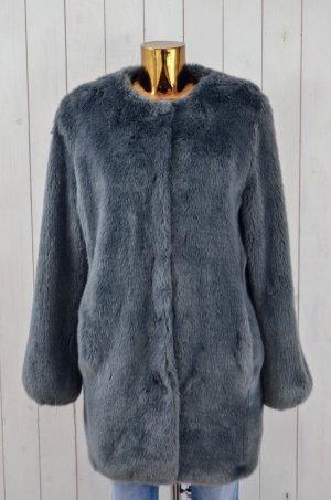 Giacca in eco pelliccia grigio Poliestere
