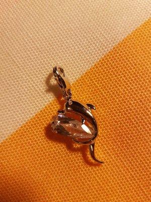 Bettelarmband Anhönger kleiner Delphin mit Steinchen