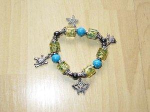 Bangle olive green-cornflower blue