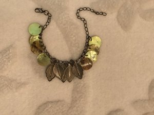 Charm Bracelet green grey-grey brown