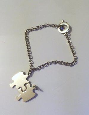 Bracelet à breloques argenté argent
