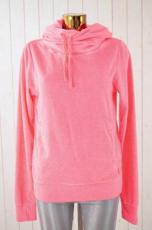 BETTER RICH Damen Hoodie Kapuzenpullover Neon-Pink Nicki Baumwolle Polyester M