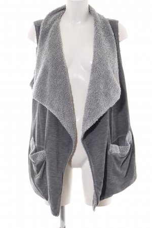 Better Rich Fur vest light grey flecked casual look