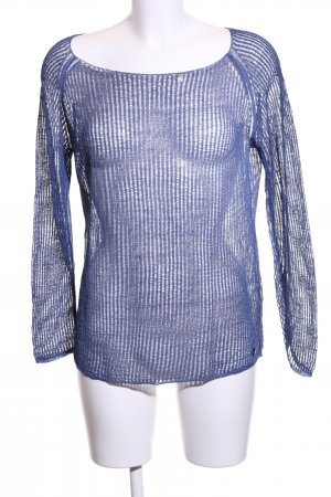 Better Rich Crochet Shirt blue extravagant style
