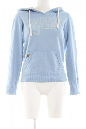 Better Rich Kapuzensweatshirt blau Motivdruck Casual-Look