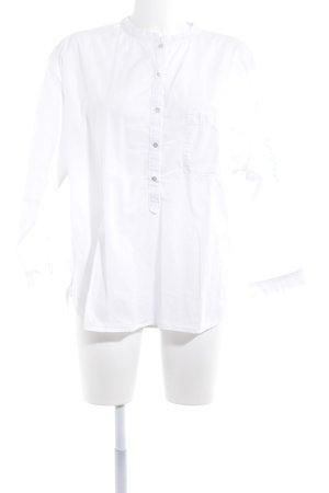 Better Rich Langarm-Bluse weiß Schriftzug gedruckt Casual-Look
