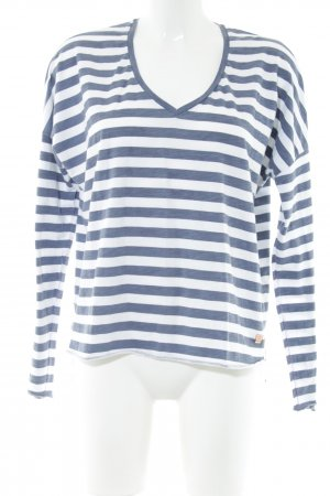 Better Rich Longsleeve blau-weiß Streifenmuster Casual-Look