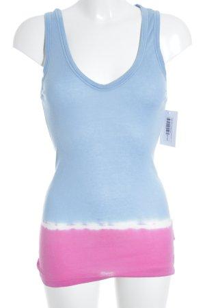 Better Rich Longtop himmelblau-pink Farbverlauf sportlicher Stil