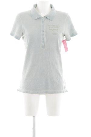 Better Rich Polo-Shirt hellgrau Schriftzug gedruckt Casual-Look