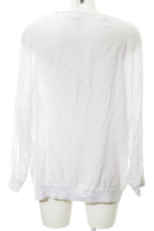 Better Rich Jersey de cuello redondo blanco-rosa look casual