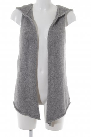 Better Rich Knitted Vest silver-colored-dark grey flecked fluffy