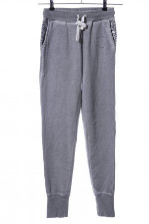 Better Rich Sweat Pants light grey printed lettering casual look