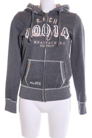 Better Rich Sweat Jacket light grey flecked casual look