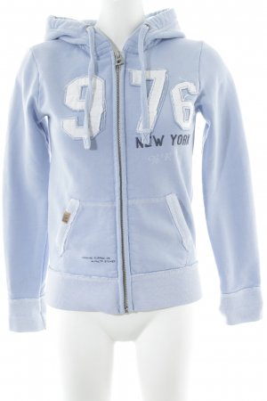 Better Rich Sweat Jacket light blue-white embroidered lettering casual look